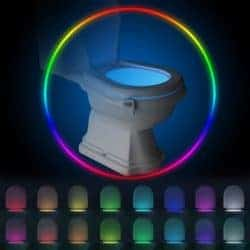 funny gifts for men - Rechargeable Toilet Bowl Night Light