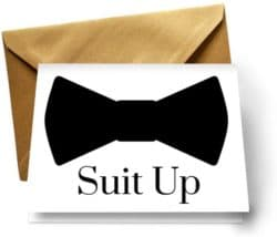 funny gifts for men - Suit Up Cards with Gold Envelopes