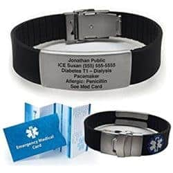 gifts for dad who has everything - Waterproof Medical Alert Bracelet