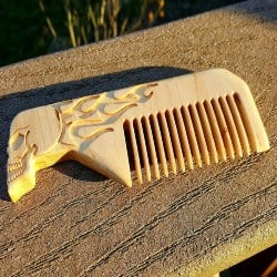 gifts for dad who has everything - engraved skull comb