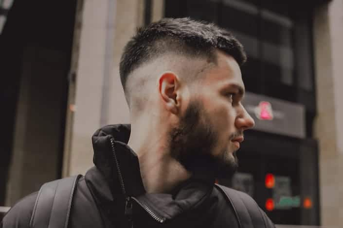 Best Mens Modern haircut - Low Burst Fade + Spiky Hair