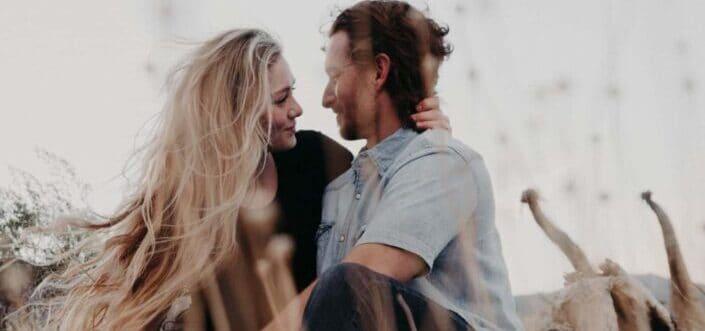 Couple having romantic moment