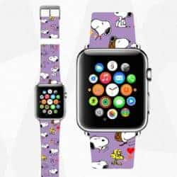 unique gift - Apple Watchband anime dog Leather
