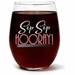 unique gift - Funny Cute Wine Glass