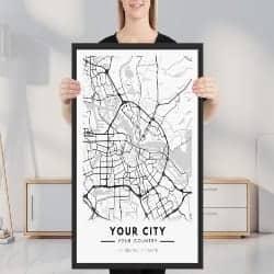 unique gift - Personalized City prints
