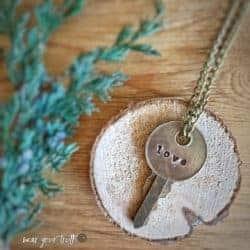 unique gift - love key necklace