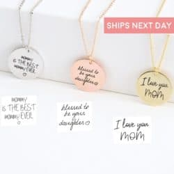 unique gifts - Actual Handwriting Necklace