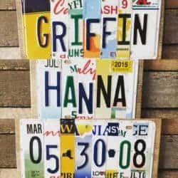 unique gifts - Custom License Plate Sign