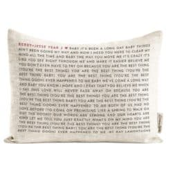unique gifts - Favorite Song on a Pillow
