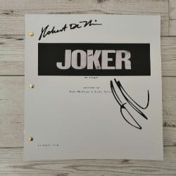 unique gifts - Joker Script, Screenplay with Signatures