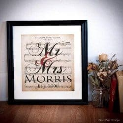 unique gifts - Your Wedding Song on Velvet Paper (1)
