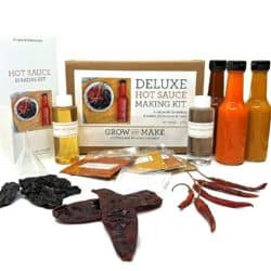 DIY gifts - Grow and Make Deluxe DIY Hot Sauce Making Kit