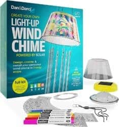 DIY gifts - Make Your Own SOLAR-POWERED Light-Up Wind Chime Kit