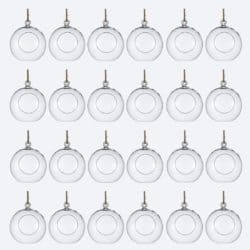 DIY gifts - Package of 24 Clear Glass Orbs Terrarium Hanging Glass Candle Holders