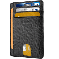EDC wallets - Buffway Slim Minimalist Front Pocket RFID Blocking Leather Wallet