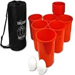 Funny Gifts for Men - Yard Games Giant Yard Pong with Durable Buckets and Balls Including High Strength Carrying Case