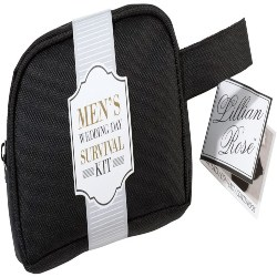 Groomsmen Gifts - Lillian Rose Men's Wedding Day Mini Emergency Survival Kit (1)