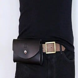 Manly Gifts - Men's Genuine Leather Belt Bag