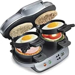 Practical DIY Gifts - Hamilton Beach Dual Breakfast Sandwich Maker with Timer