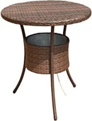 Practical Gifts for Dad - Costway 31.5in Cool Bar Rattan Table with Ice Bucket
