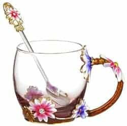 Practical Gifts for Girlfriend - Glass Coffee Mug with Spoon