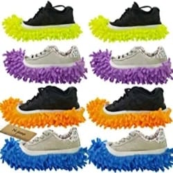 Practical Gifts for Men - 4 Pairs Duster Mop Shoes Cover