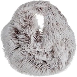 Practical Gifts for WIfe - Faux Fun Fur Chic Infinity Loop Circle Thick Scarf for Women