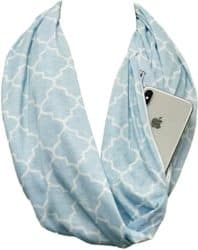 Practical Gifts for mom - Infinity Scarf with Zipper Pocket