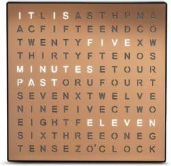 Practical yet cool gifts - word clock