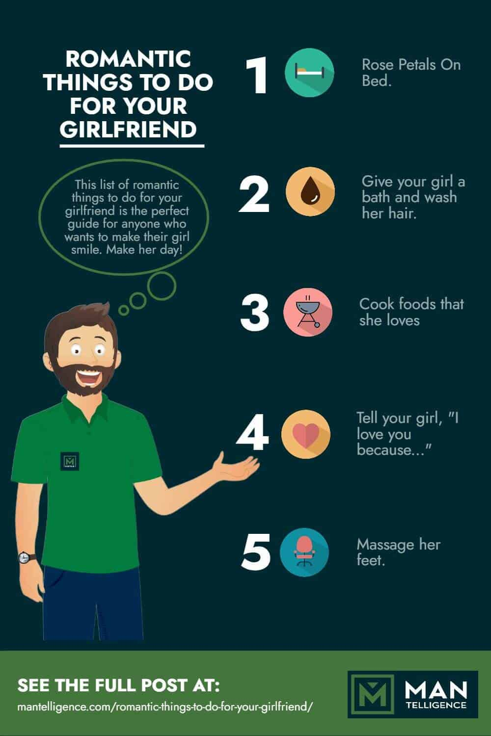 Romantic things to do for your girlfriend - infographic