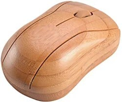 Small Gifts for men - Horsebiz Bamboo Wireless Optical Mouse