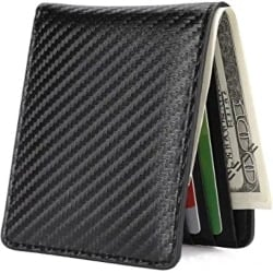 Wallet ID Window Card Case with RFID Blocking