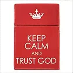 Thoughtful Gifts for Men - Keep Calm and Trust God Cards - A Box of Blessings