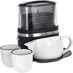 Thoughtful Gifts for Men - Tea Maker Suite with Ceramic Tea Pots, Cups, and Serving Tray