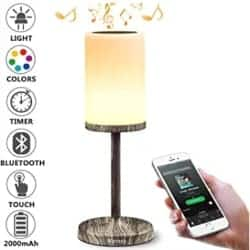 Thoughtful Romantic Gift Ideas - Bedside Lamp with Bluetooth Speaker
