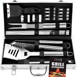 Thoughtful Romantic Gift Ideas - Heavy Duty BBQ Grill Tool Set in Case (1)