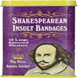 Thoughtful Unique Gift Ideas - Shakespearean Insult Bandages