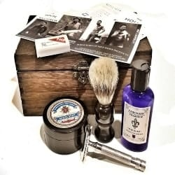 birthday gifts for dad - rustic shave kit