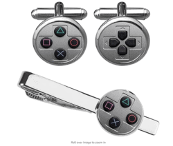 unique gifts - Game Console Button Cufflinks & Tie Clip