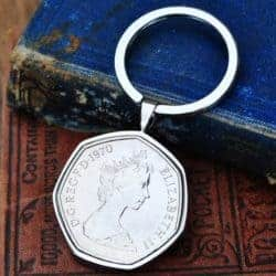 unique gifts - Pence Coin Keyring