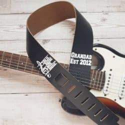 unique gifts - Personalised guitar strap