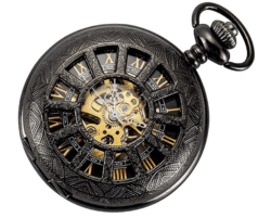 unique gifts - Skeleton Pocket Watch
