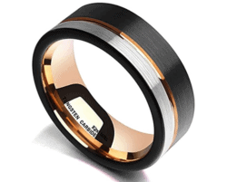 unique gifts - Tungsten Carbide Wedding Band