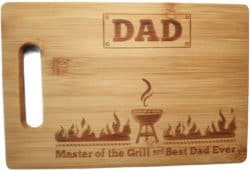 cute gifts for dad - Laser Engraved Cutting Board Master of the Grill