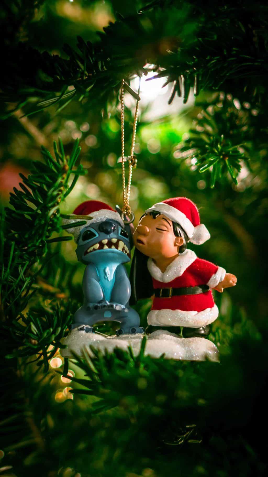 lilo and stitch christmas ornament