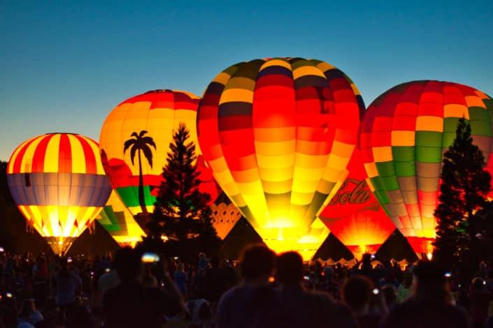 first date ideas - hot air balloon ride