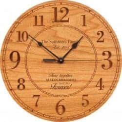 Birthday gifts for mom - Personalized wooden clock