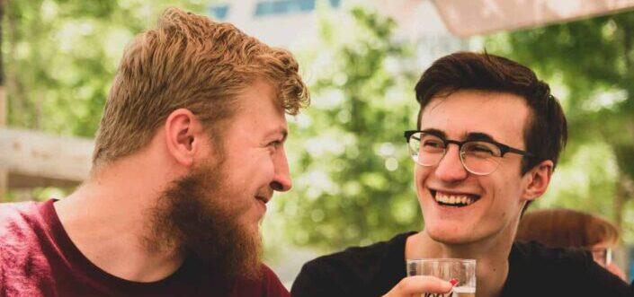 Friends having a beer bonding.