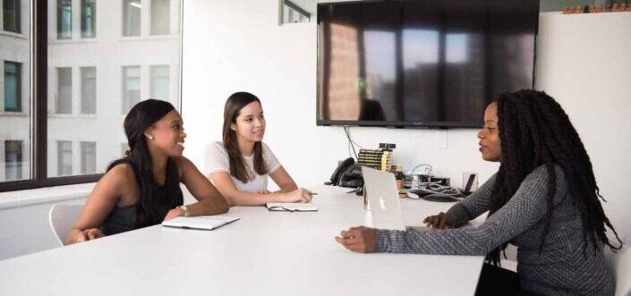 Diverse women having a meeting