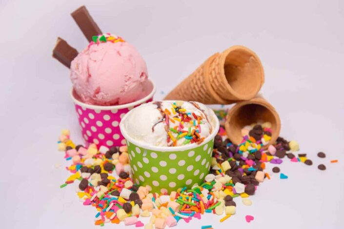 Ice cream with toppings